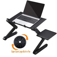 Laptop Table Stand With Adjustable Folding Ergonomic Design